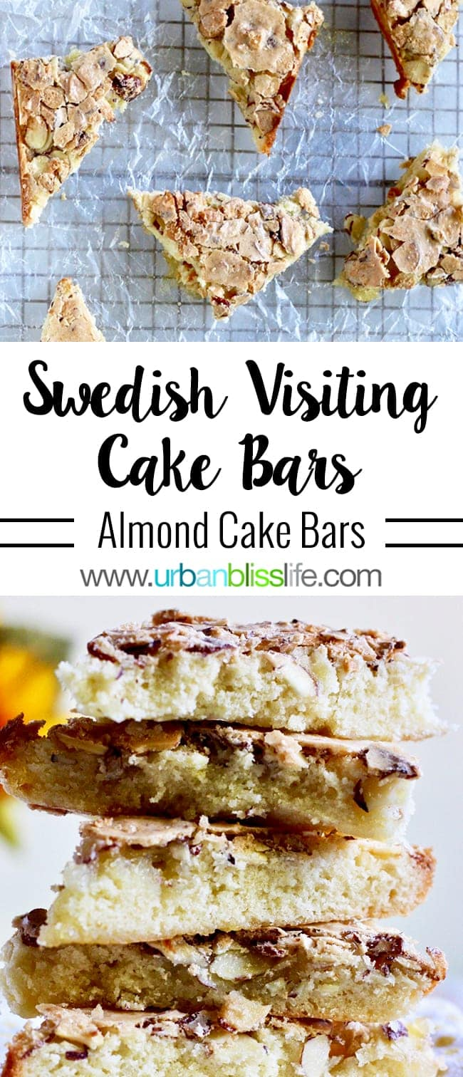 Swedish Visiting Cake Bars almond bars