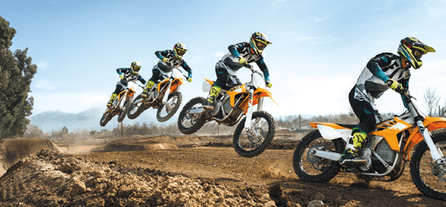 Electric Dirt Bikes for adults on the racing track