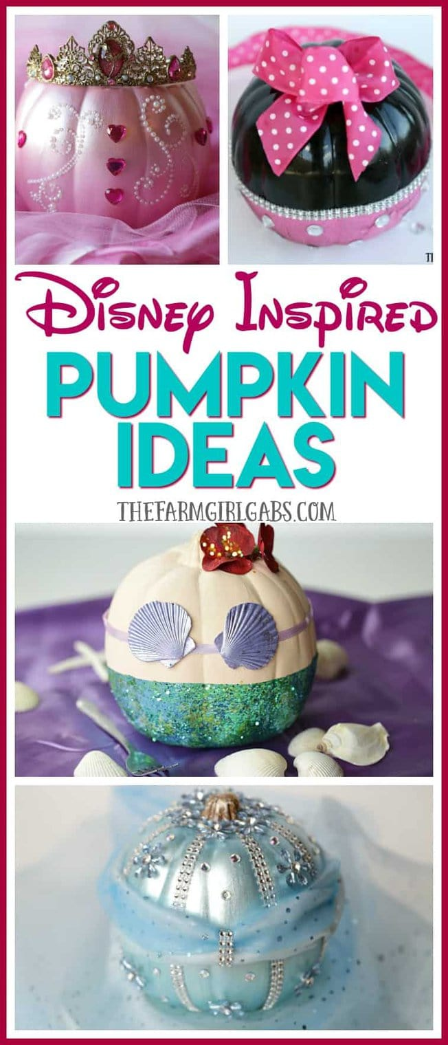 Show your Disney side (and crafty side) this Halloween with these adorable Disney Inspired Pumpkin Ideas!