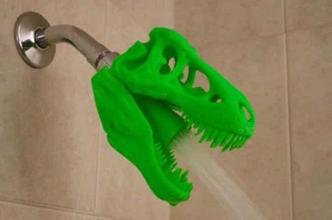 3D Printed T-REX Skull Shower Head.