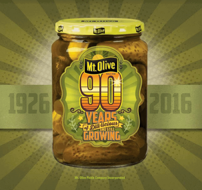 Mt Olive Pickles 90th Anniversary Jar