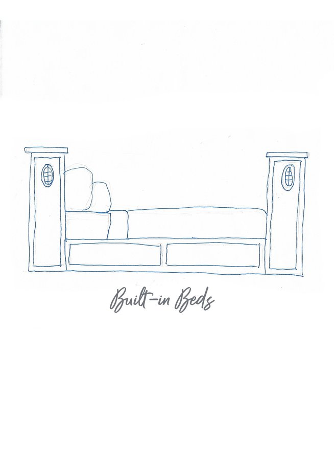 bunk bed sketch