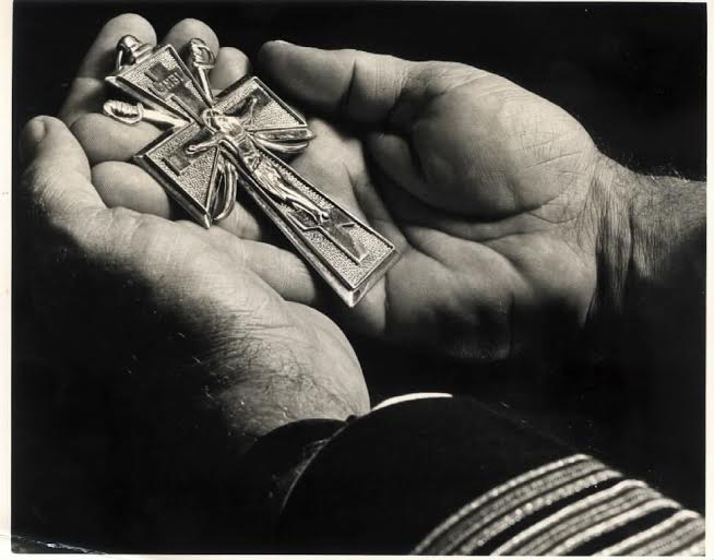 The unique pectoral cross designed for Orthodox military chaplains.