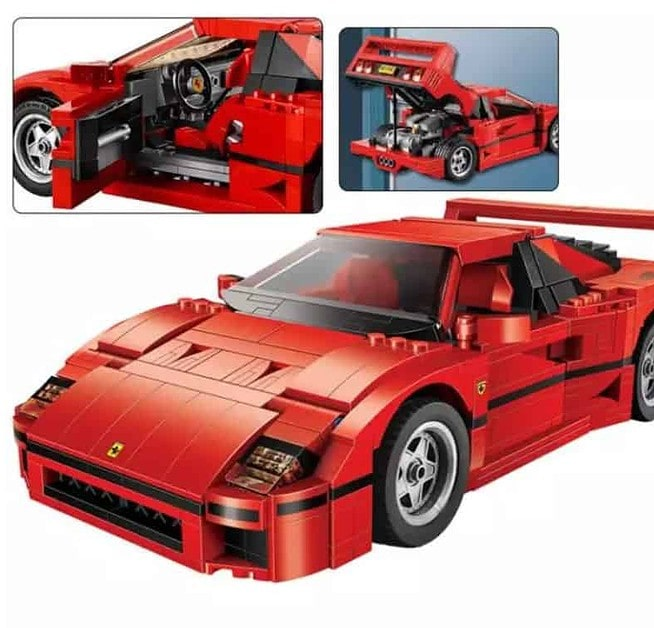 AliExpress Lego Replica Lego Alternative Lego Technic Clone AliExpress Fun Toy Kingdom Model Building Blocks Compatible with legoings F40 21004 Sports Car 10248 Figure Educational Toys for Children Gift for Boy Girl