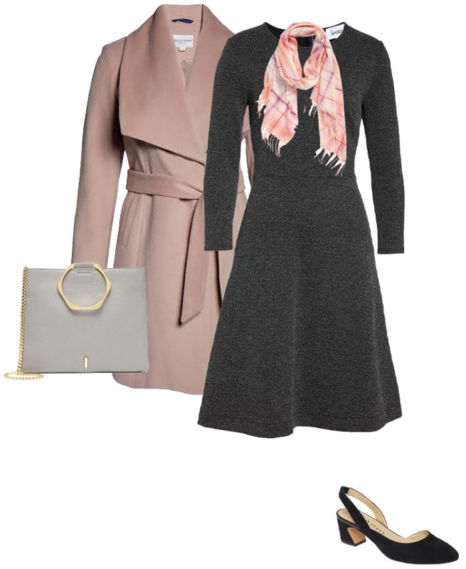 Melting Sigh - combining gray with soft pink | 40plusstyle.com