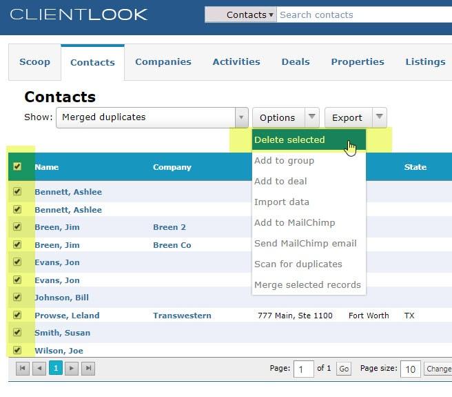 Merge Duplicate Records In ClientLook_10