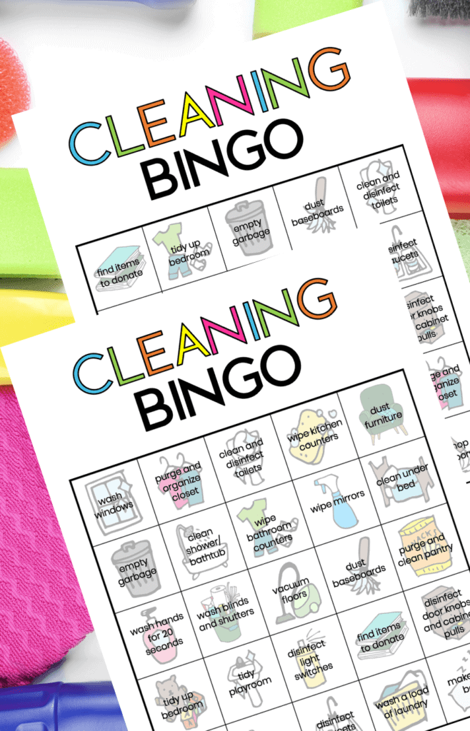 cleaning bingo game