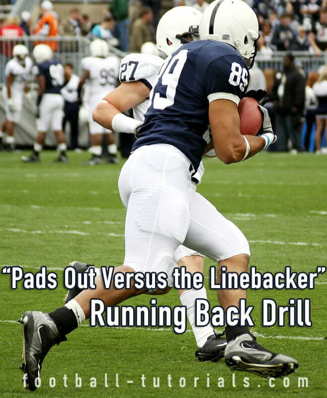 pads out running back drill