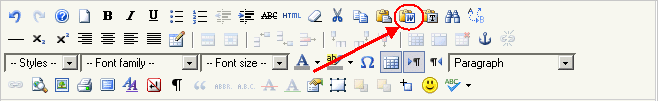 Paste Word toolbar button.