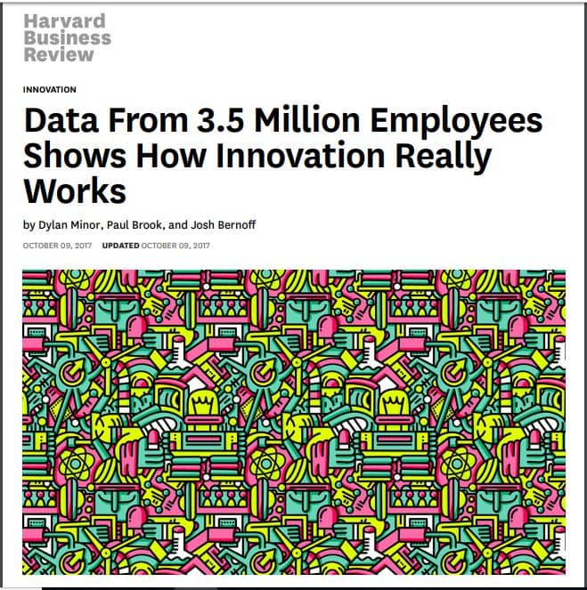 Harvard Business Review Data from 3.5 Million Employees Shows How Innovation Really Works