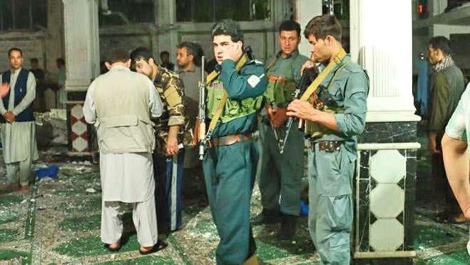 Fidayeen assault mosque Afghanistan 29 killed