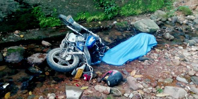 Motociclista murió