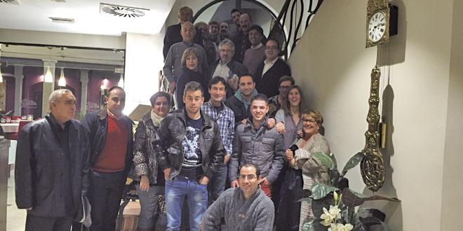 Algunos de los invitados a la cena de Navidad de COPE Peñaranda en el restaurante Las Cabañas