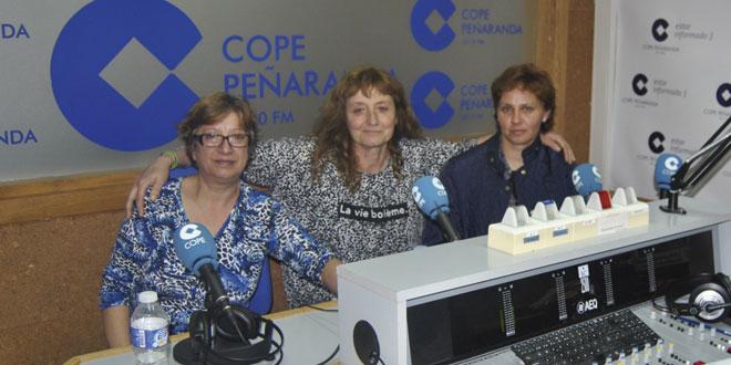 Julia, Victoria y Raquel durante la entrevista en LA MAÑANA EN PEÑARANDA