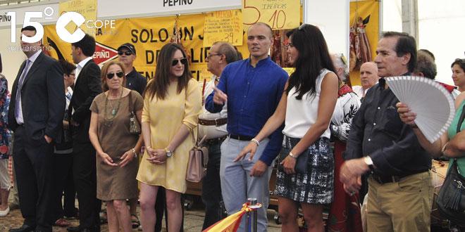 Concejales del Partido Popular durante la inauguración de la V Feria Multisectorial