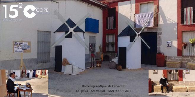Una de las calles de Salmoral participantes en el Concurso de decoración