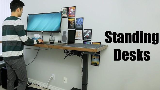 Standing Compact Computer Desk