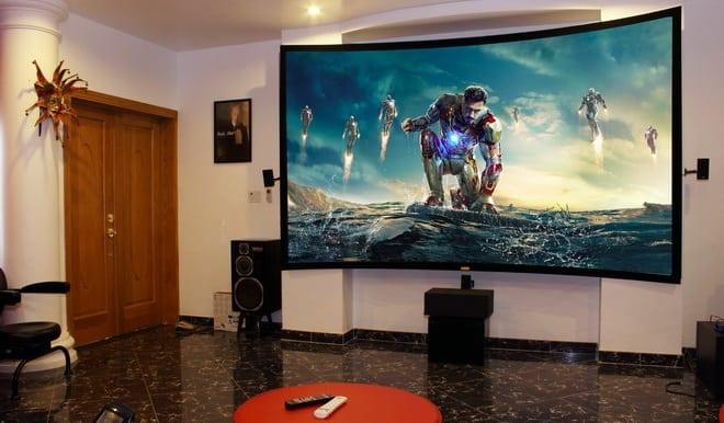 máy chiếu phòng phim