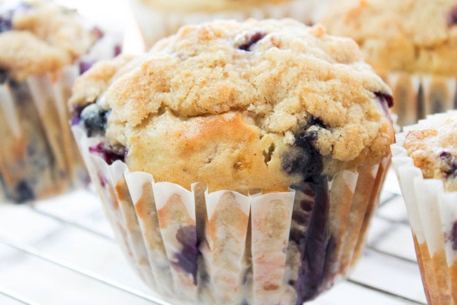 Blueberry Banana Streusel Muffins - A perfect breakfast treat using your fresh blueberries!
