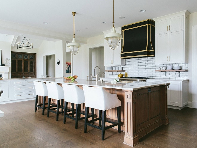 белая кухня в американском стиле