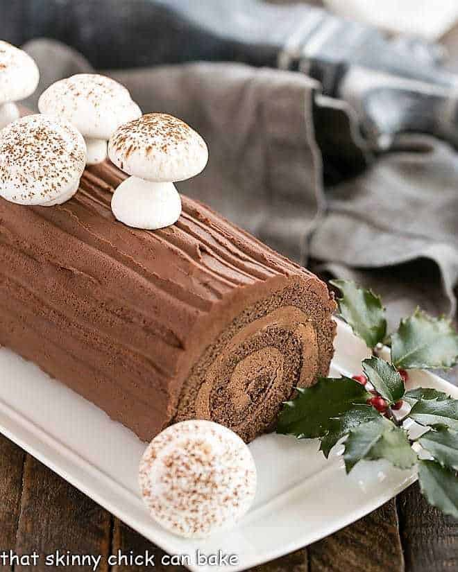 Christmas Yule Log Cake.Buche De Noel That Skinny Chick Can Bake