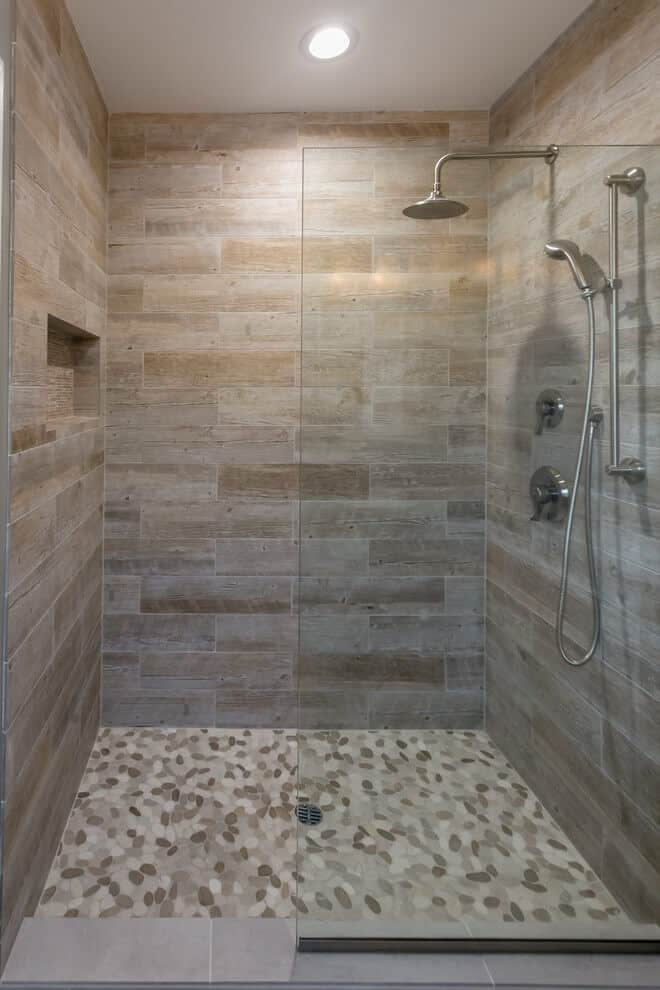 44 Best Shower Tile Ideas and Designs for 2019 on Bathroom Tile Designs  id=88005