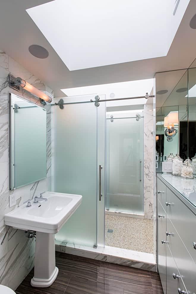 Add a See-Thru Shower Enclosure