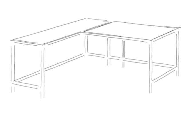 Choosing a Normal or an L-Shaped Desk Two Person Gaming Computer Desk for Small Space