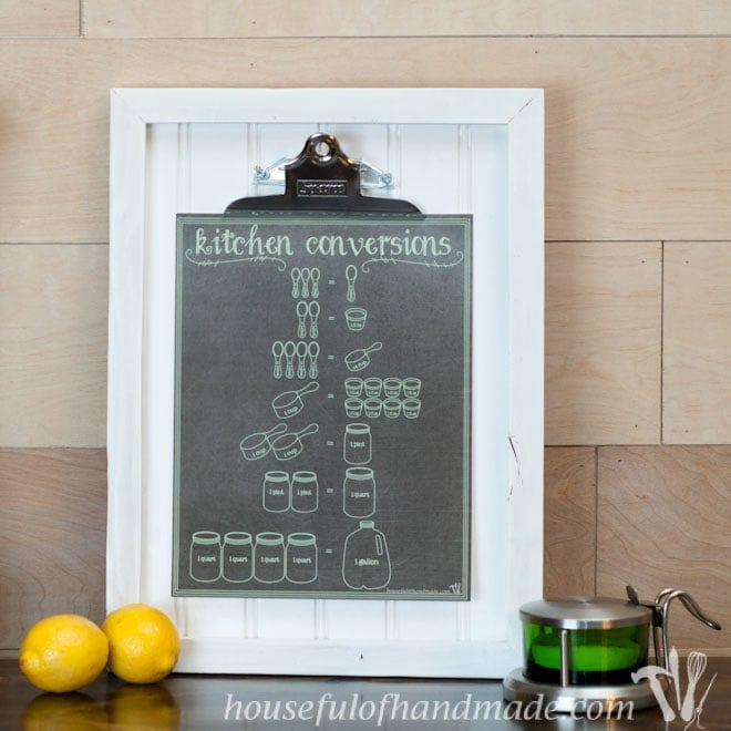 image regarding Kitchen Conversion Chart Printable titled Printable Kitchen area Conversion Chart - Houseful of Home made