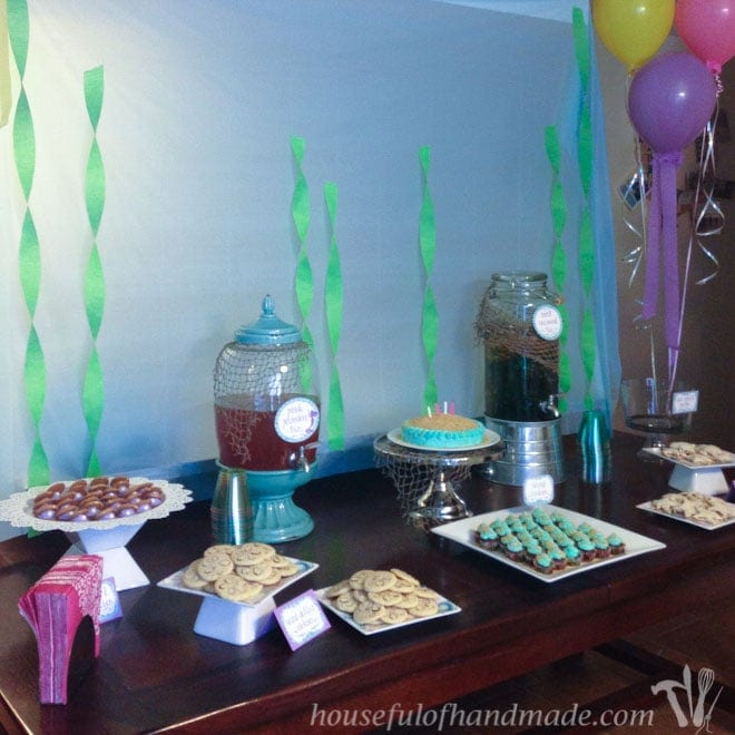 The perfect birthday party for a little girl, a mermaid tea party! Lots of great ideas on how to throw a mermaid tea party with free printables. From Houseful of Handmade.