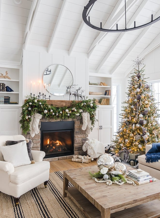 silver and grey christmas decor
