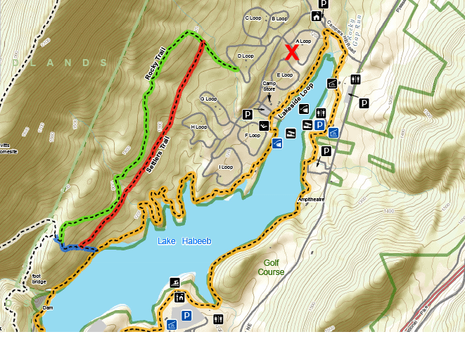 rocky gap state park cutout campground map