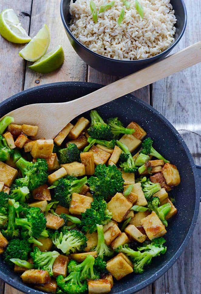 Tofu Broccoli Skillet