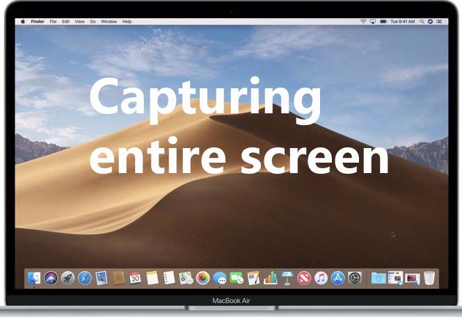 how to screenshot capture entire screen on macbook