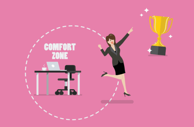 leave your comfort zone to grow your business