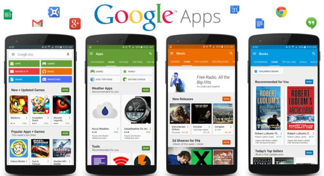 scaricare e installare Google Apps