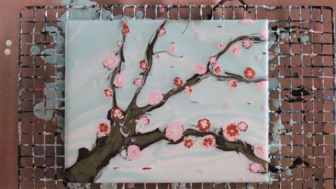 adding cherry blossom petals into the wind