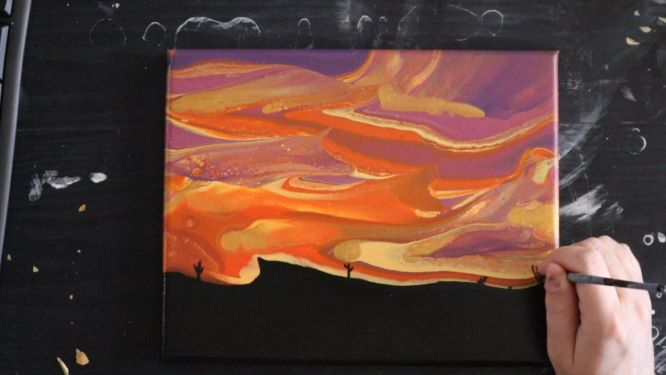 handpainting the landscape of your sunset painting