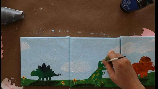 add details to your dinosaur painting