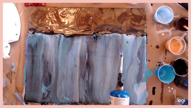 swipe technique on underwater painting