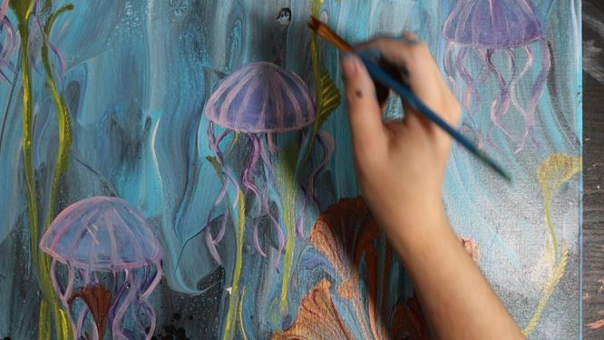 how to paint a bubble demonstration