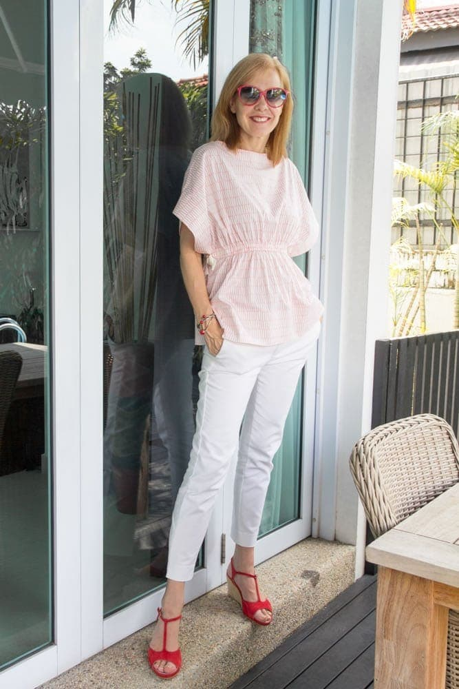 How To Dress Casually Chic For Summer – The 40+Style Casual Summer Style Challenge: Outfit 1   40plusstyle.com