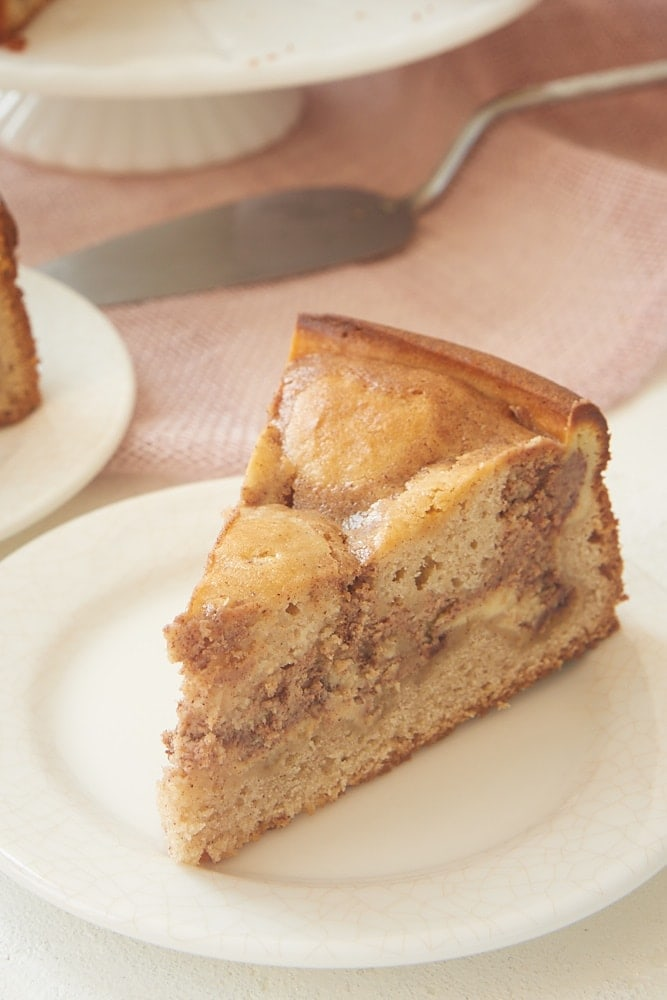slice of Cinnamon Roll Cream Cheese Coffee Cake