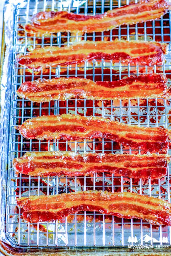 cooked keto candied bacon