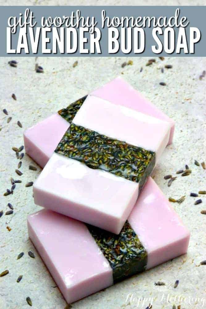 Gift Worthy Homemade Lavender Bud Soap