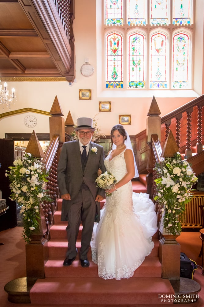 Bride with her Father at Highley Manor