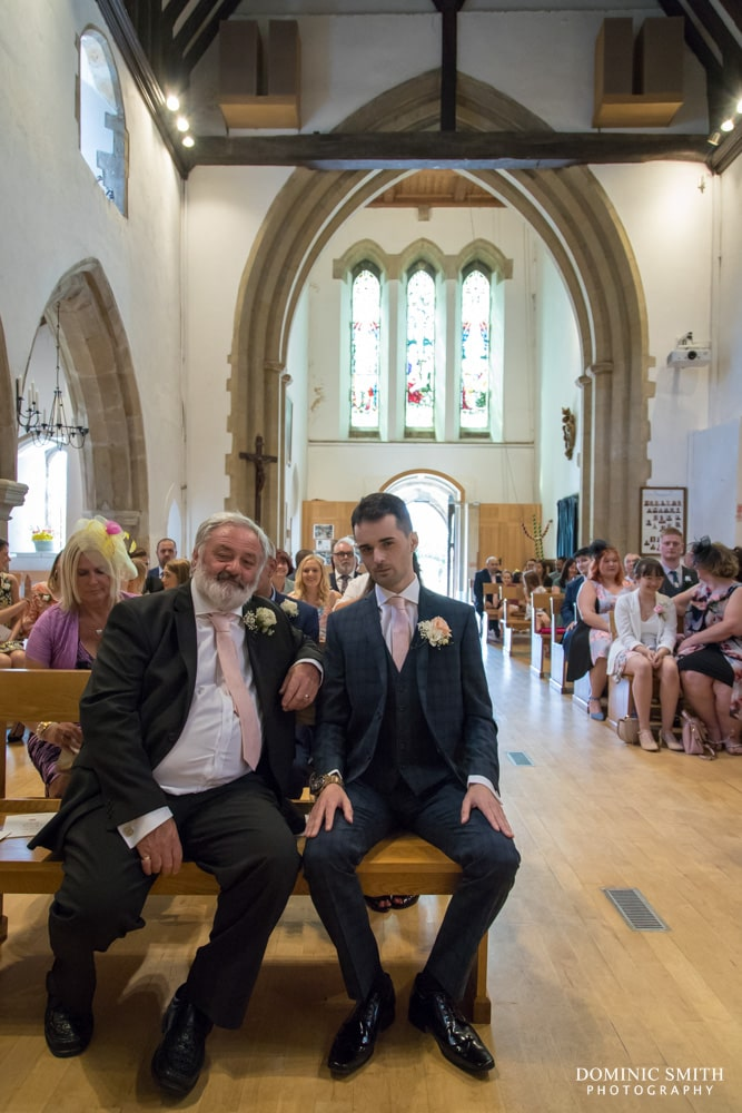 Wedding ceremony at St Margarets Church Ifield 2