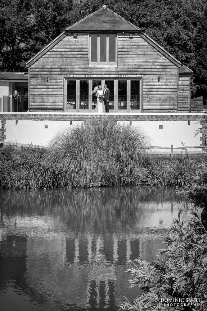 Couple Photo in Front of Brookfield Barn