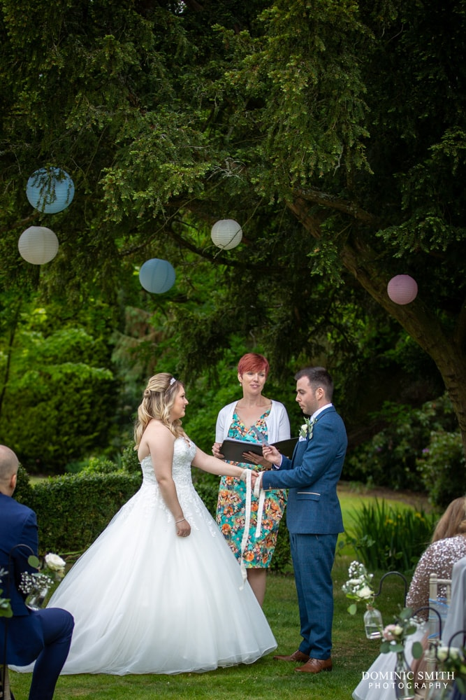 Handfasting Ceremony at Smallfield Place