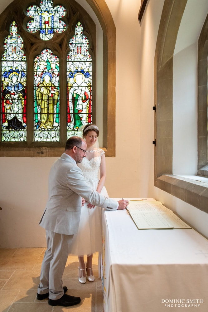 Signing the Register at St Peters Church Henfield